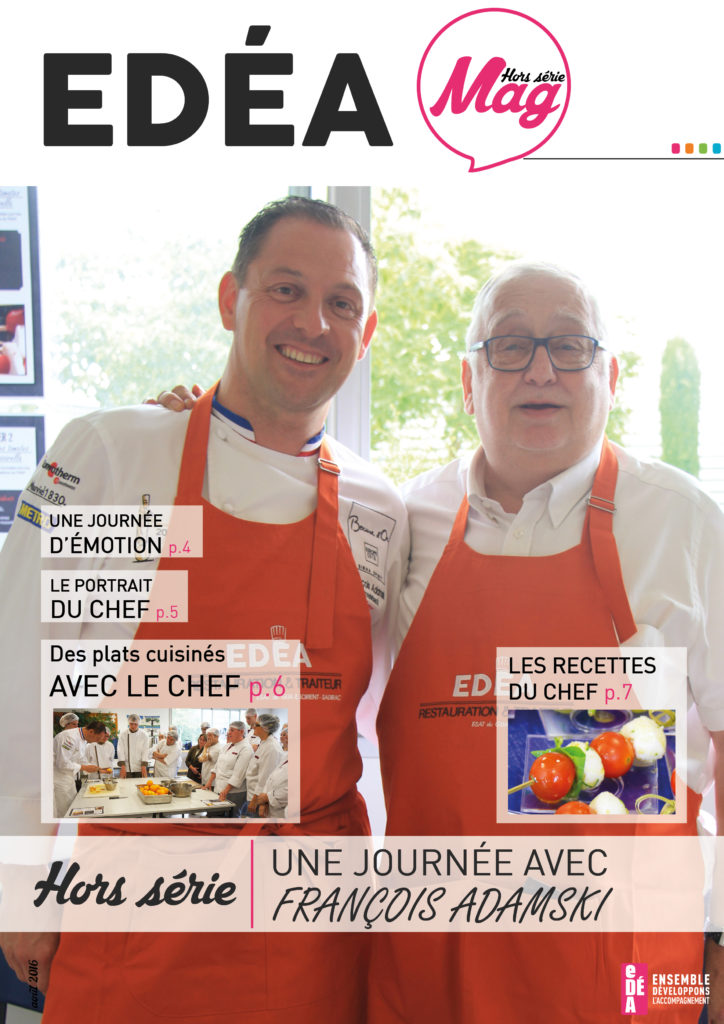 page de couverture magazine interne