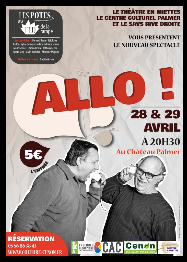 Affiche theatre Allo?